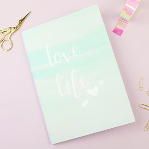 Pastel Watercolour 'Love Life' A5 Notebook
