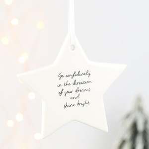 Go Confidently Star Hanging Decoration