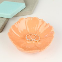 Orange Flower Trinket Dish