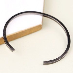 Men's Brushed Black Bar Bangle