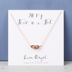Two Peas in a Pod Rose Gold Necklace