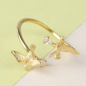 Gold Double swallow Open Ring