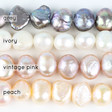Lisa Angel Grey Ivory Vintage Pink Peach Pearl Colours