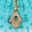 Lisa Angel Ladies' Gold Hamsa Hand Necklace