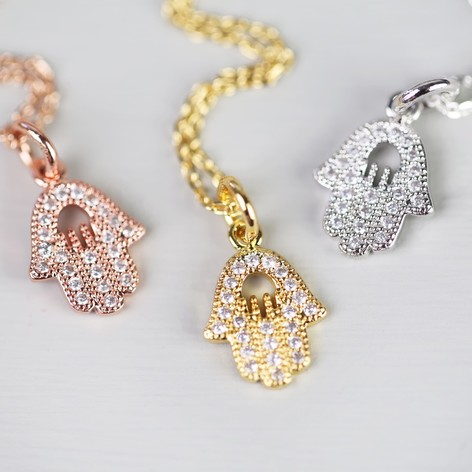 pave hand god diamond pendant set handmade gold necklace yellow of carat hamsa