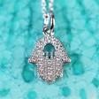 Lisa Angel Ladies' Silverd Hamsa Hand Necklace