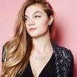 Lisa Angel Handmade Acrylic Name Necklace on Model
