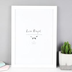 White A4 Print Wooden Frame