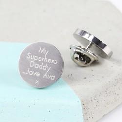 Men's Personalised Brushed Stainless Steel Tie Pin