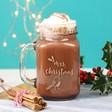 Lisa Angel Engraved Personalised Christmas 'Mrs' Mason Jar