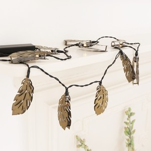 Bronze Feather LED String Lights