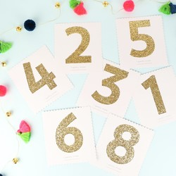 Meri Meri Chunky Gold Glitter Number Stickers