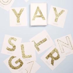 Meri Meri Chunky Gold Glitter Letter Stickers