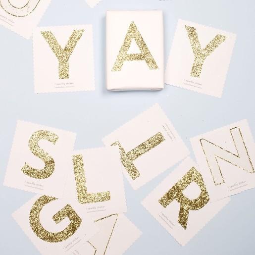 meri meri gold glitter stickers stationery