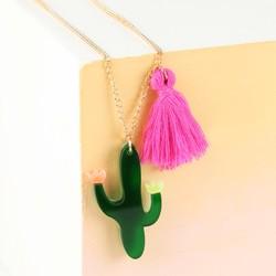 Meri Meri Acrylic Cactus Necklace