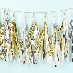 Meri Meri Gold and Silver Party Tassel Garland