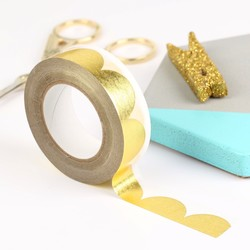 Meri Meri Gold Scallop Foil Tape