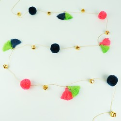 Meri Meri Jingle Bells Pom Pom Garland