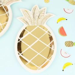 Meri Meri Pack of 8 Pineapple Paper Plates