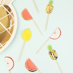 Meri Meri Pack of 24 Fruit Party Picks