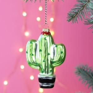 Sparkly Cactus Bauble