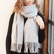 Ladies' Grey Super Soft Lambswool Scarf