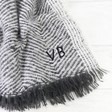 Ladies' Grey Herringbone Weave Wrap Scarf