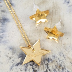 Personalised Acrylic Star Jewellery Set