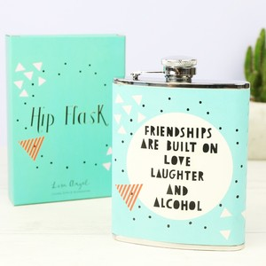 Geometric Friendship Hip Flask