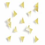 Umbra Set of 16 Brass Confetti Wall Triangles