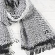 Lisa Angel Ladies' Grey Herringbone Weave Wrap Scarf