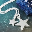Lisa Angel Ladies' Long Double Star and Toggle Necklace
