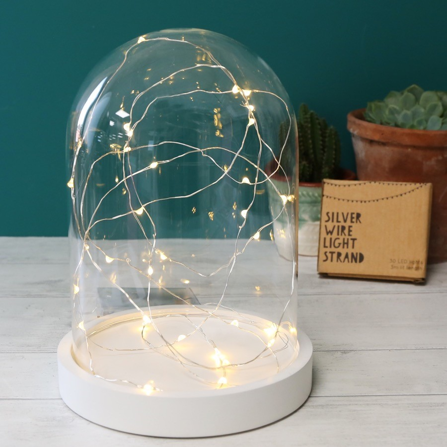 30 Battery Powered LED Silver Wire String Lights | Lisa Angel