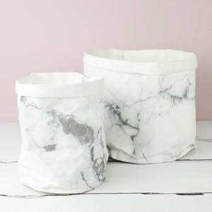 Marble Round Medium Storage Bag