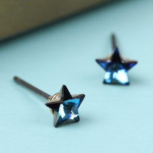 Iridescent small star stud earrings