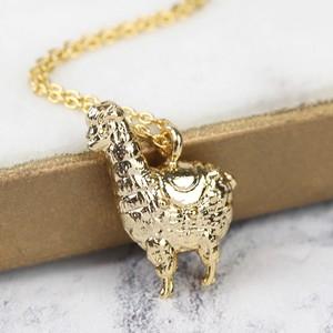 Gold Llama Necklace