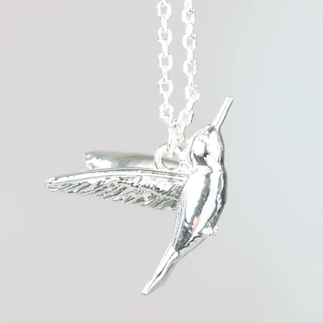 pendant silver artfire hummingbird on view silverloonjewelers sterling necklace shop ext product