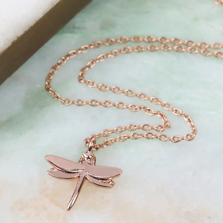 two gold jewellery zanfeld necklace tone necklaces with shop pendant dragonfly silver