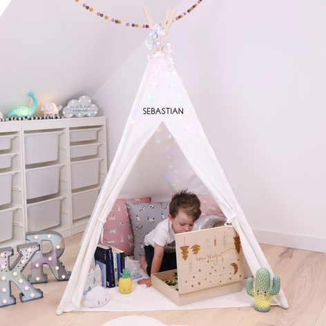 Personalised Large White Play Teepee & Personalised Large Kidsu0027 Play Teepee Tent | Lisa Angel Home