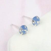 9107ff19869 Iridescent Swarovski Crystal Ball Stud Earrings   Lisa Angel