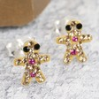 Lisa Angel Diamante Gingerbread Man Stud Earrings