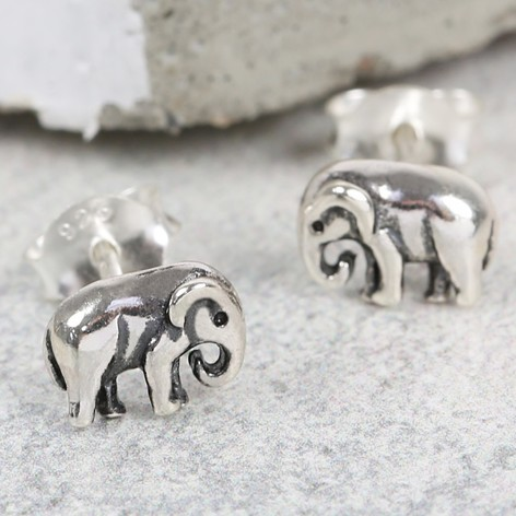 elephant earrings il sterling tiny silve listing stud children baby