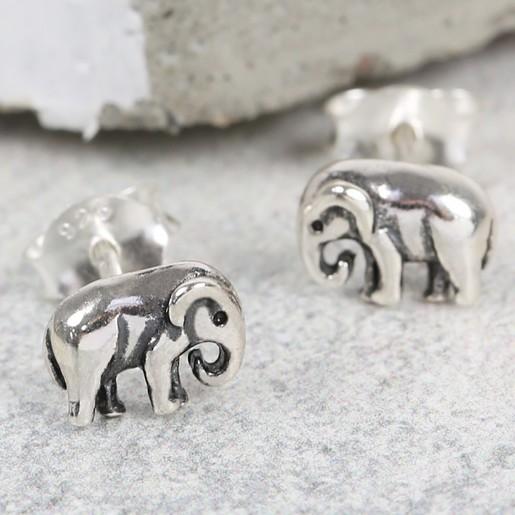 3483b9d3c2f406 Lisa Angel Ladies  Sterling Silver Elephant Stud Earrings