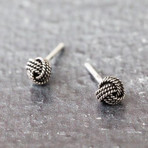 cf903035b Sterling Silver Knot Stud Earrings | Jewellery | Lisa Angel