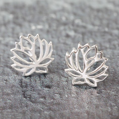 flower earrings stud silver and us crystal claire s