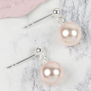 Sterling Silver Pink Pearl Drop Bridesmaid Earrings