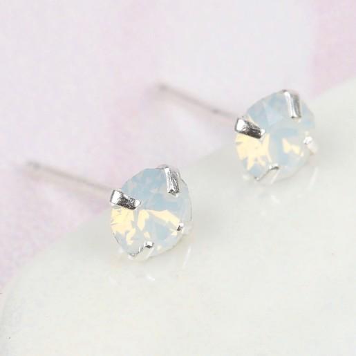 d3e799f4a1 White Swarovski Crystal Stud Earrings