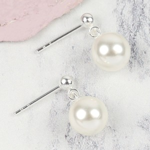 Sterling Silver White Pearl Drop Bridesmaid Earrings