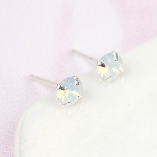 1419ac015 White Swarovski Crystal Stud Earrings | Lisa Angel