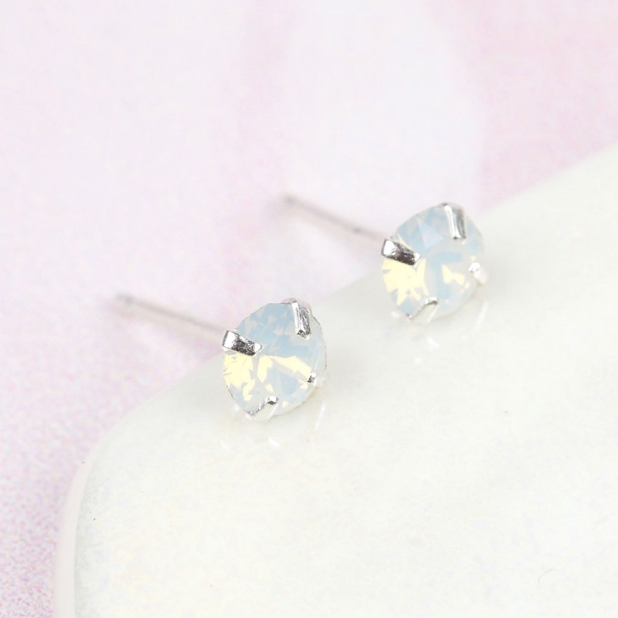 fashion crystal white zuelia pink earrings product